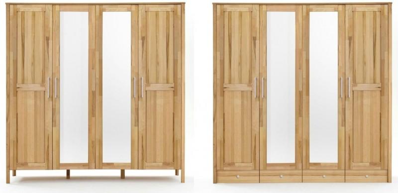 Schrank Kleiderschrank Holzschrank Schubladen Spiegel Kernbuche massiv