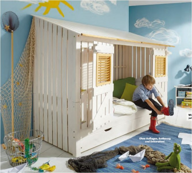 jugendbett kinderbett kojenbett bett kiefer massiv weiss laugenfarbig abgesetzt baby kinder. Black Bedroom Furniture Sets. Home Design Ideas