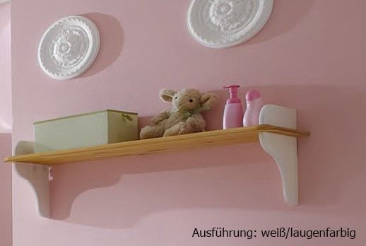 Regal Wandregal Wandboard Hängeregal Landhausstil Kiefer massiv Kinderzimmer