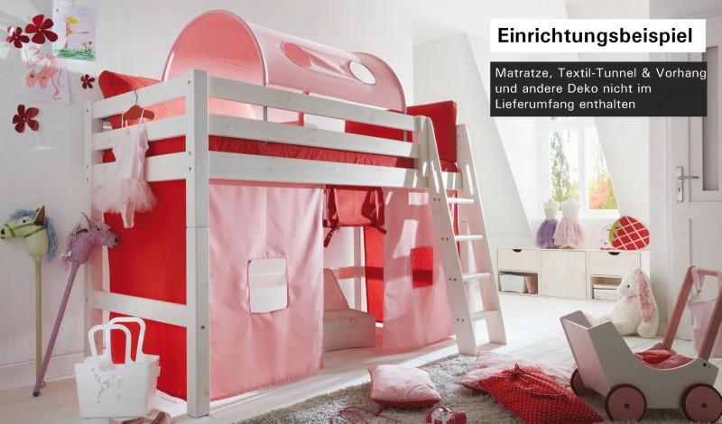 Hochbett Bett Kinderbett Halbhochbett Kinderzimmer ...