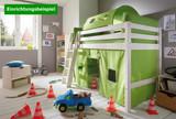 Hochbett Bett Kinderbett Halbhochbett Kinderzimmer Jugendzimmer Kiefer massiv