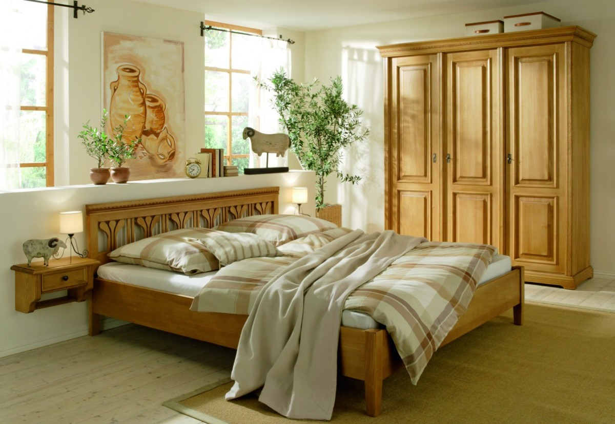 Schlafzimmer kompletteinrichtung doppelbett schrank for Schlafzimmer schranke