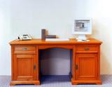 Schreibtisch Computertisch Arbeitstisch Bürotisch Fichte massiv antik