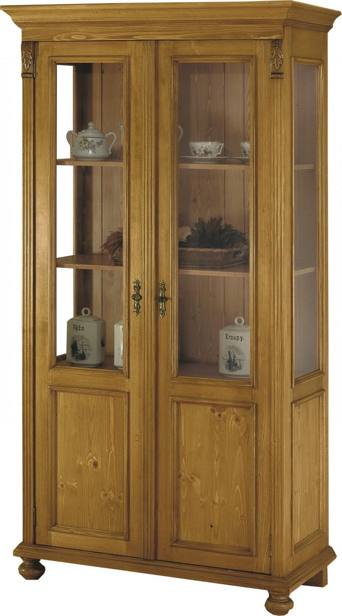 vitrine vitrinenschrank halbvitrine schrank fichte massiv. Black Bedroom Furniture Sets. Home Design Ideas