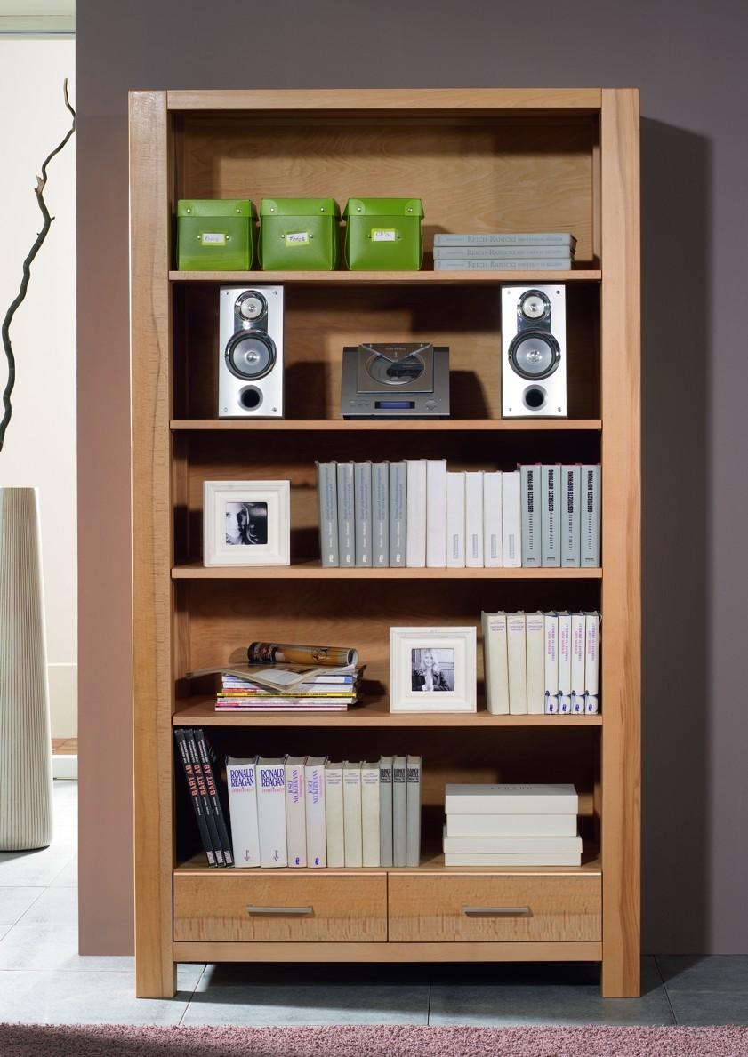 bücherregal regal wohnzimmerschrank bücherschrank kernbuche massiv, Gestaltungsideen