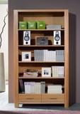 Bücherregal Regal Wohnzimmerschrank Bücherschrank Kernbuche massiv geölt natur