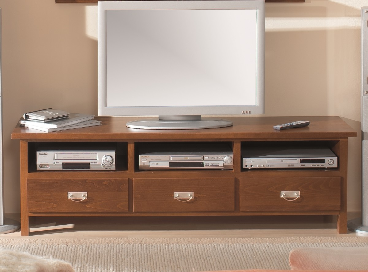 lowboard tv board tv tisch konsole buche massiv lackiert dunkel wohnzimmer tv m bel lowboards racks. Black Bedroom Furniture Sets. Home Design Ideas
