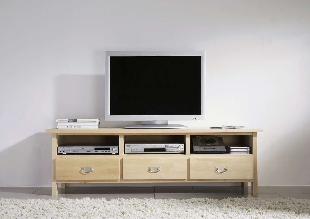 tv board lowboard tv tisch tv m bel tv konsole birke massiv gewachst wohnzimmer tv m bel. Black Bedroom Furniture Sets. Home Design Ideas