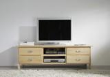 TV-Board Lowboard TV-Tisch TV-Möbel TV-Konsole Birke massiv gewachst