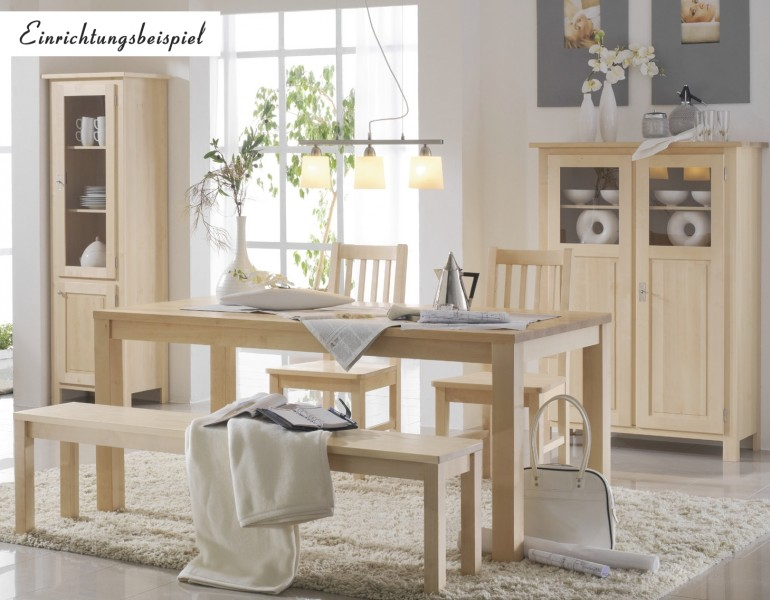 esstisch tisch esszimmertisch esszimmer birke massiv gewachst m belserien lilian. Black Bedroom Furniture Sets. Home Design Ideas
