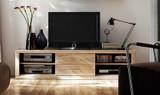 TV-Board Lowboard TV-Anrichte TV-Möbel TV-Konsole Wildeiche massiv geölt