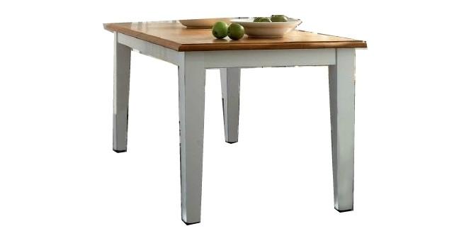 Esstisch Tisch Esszimmertisch Küchentisch Fichte massiv Antikweiß shabby