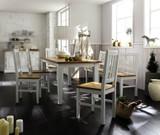 Essgruppe Esszimmergruppe Esstisch Bank Stühle Fichte massiv Antikweiß shabby