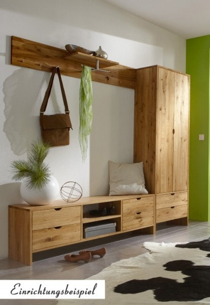 garderobenset garderobe schrank kommode flur diele wildeiche massiv ge lt flur garderobe. Black Bedroom Furniture Sets. Home Design Ideas