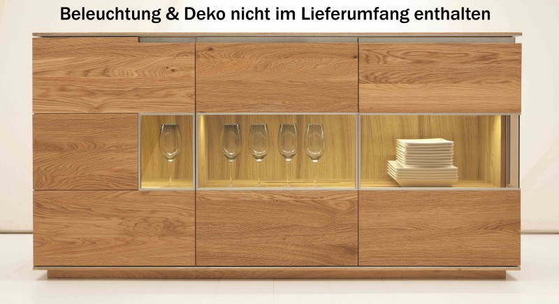 sideboard kommode anrichte wohnzimmer asteiche eiche. Black Bedroom Furniture Sets. Home Design Ideas