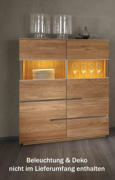 highboard kommode anrichte wohnzimmer asteiche eiche. Black Bedroom Furniture Sets. Home Design Ideas