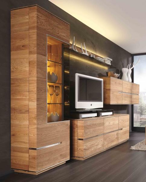 Wohnzimmerwand Wohnwand Wohnzimmer Asteiche Eiche Massiv