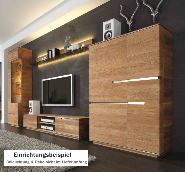 wohnwand massivholz. Black Bedroom Furniture Sets. Home Design Ideas