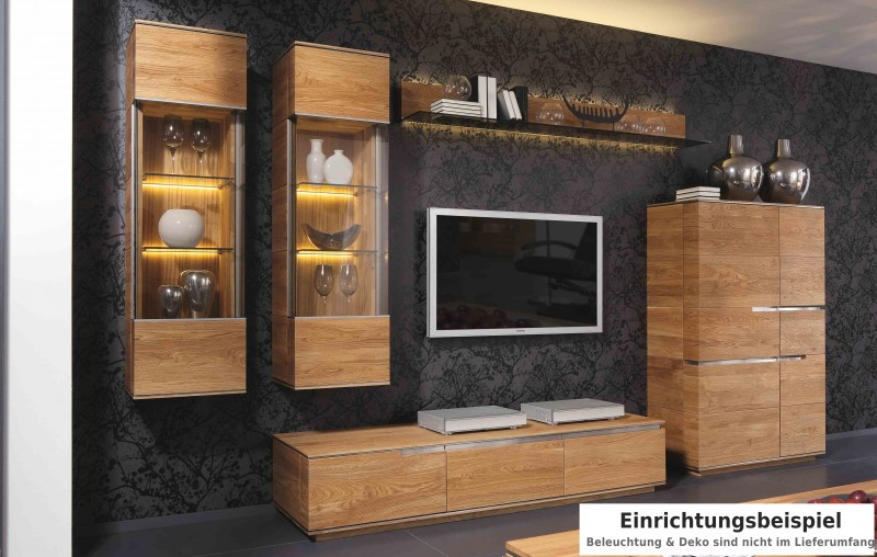 wohnwand wohnzimmer wohnzimmerwand asteiche eiche massiv natur ge lt wohnzimmer komplettsets. Black Bedroom Furniture Sets. Home Design Ideas