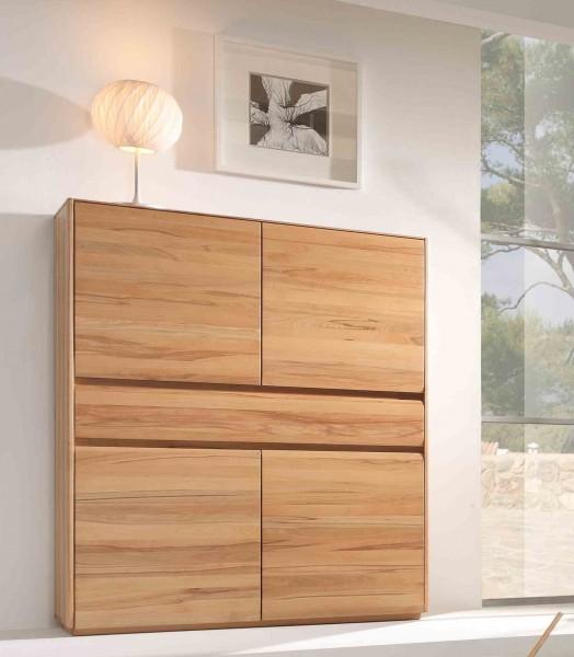 highboard esszimmerschrank wohnzimmer kernbuche massiv ge lt esszimmer schr nke highboards. Black Bedroom Furniture Sets. Home Design Ideas