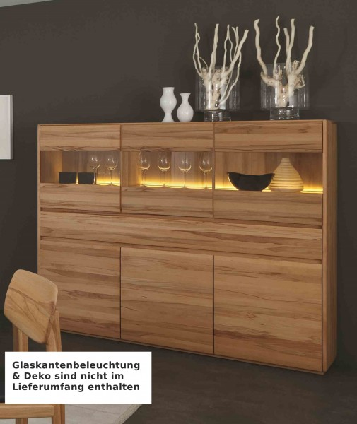 Kernbuche Esszimmer Comforafrica: Highboard Anrichte Vitrine Wohnzimmer Esszimmer Kernbuche