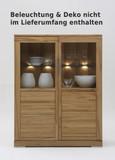 Highboard Vitrine Wohnzimmer Esszimmer Kernbuche Rotkernbuche massiv geölt natur