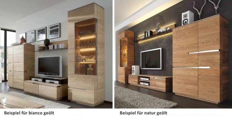 wohnzimmer wohnwand wohnzimmerwand asteiche eiche massiv natur ge lt wohnzimmer komplettsets. Black Bedroom Furniture Sets. Home Design Ideas