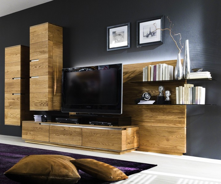wohnwand wohnzimmerwand h ngeelemente asteiche eiche massiv natur ge lt wohnzimmer komplettsets. Black Bedroom Furniture Sets. Home Design Ideas