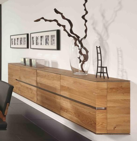 Hangeboard Sideboard Hangeschrank Wohnzimmer Asteiche Eiche Massiv