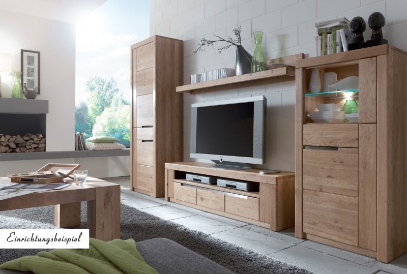 wohnzimmer schrnke trendy wohnwand anbauwand eiche massiv. Black Bedroom Furniture Sets. Home Design Ideas