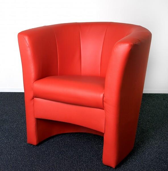 ... Sessel Cocktailsessel Clubsessel Lounge Kunstleder Creme Schwarz Rot  Braun Weiß ...