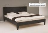 Bett Systembett auch in Überlänge Kiefer massiv schwarz lackiert Schlafzimmer