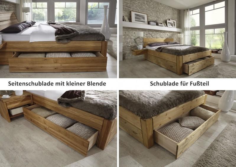 Kompaktes Bett Doppelbett Massive Eiche Uberlange Vollmassiv