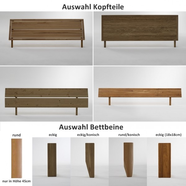 bett kopfteil doppelbett massive eiche berl nge vollmassiv rustikal runde f e schlafzimmer. Black Bedroom Furniture Sets. Home Design Ideas