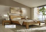 Bett Ehebett Doppelbett massive rustikale Eiche Überlänge Bettsystem