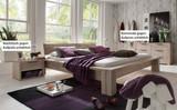 Bett Ehebett massiv Eiche Balkeneiche white wash rustikal Bettsystem