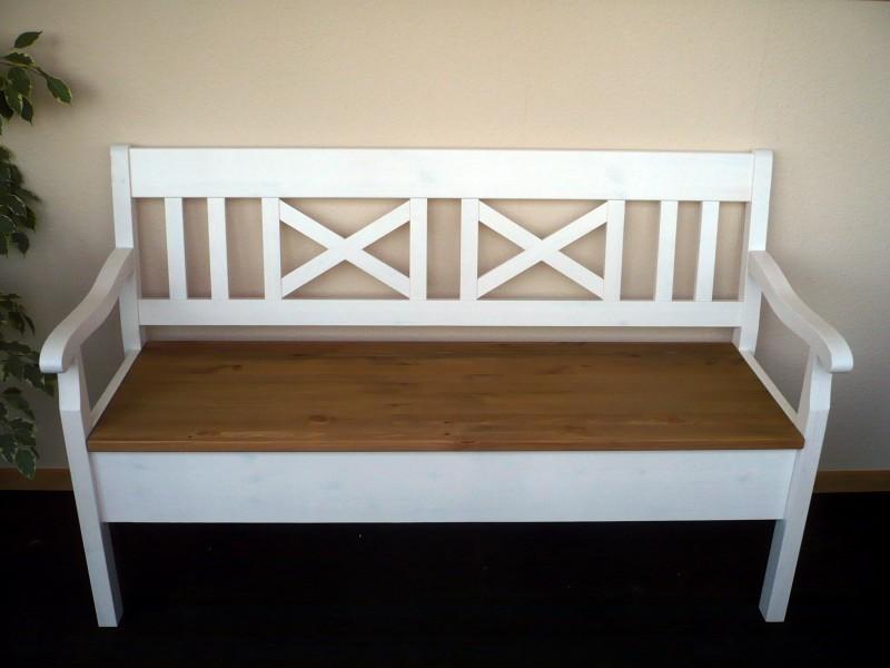 bank k chenbank truhenbank armlehnen r ckenlehne sitzbank kiefer massiv esszimmer. Black Bedroom Furniture Sets. Home Design Ideas