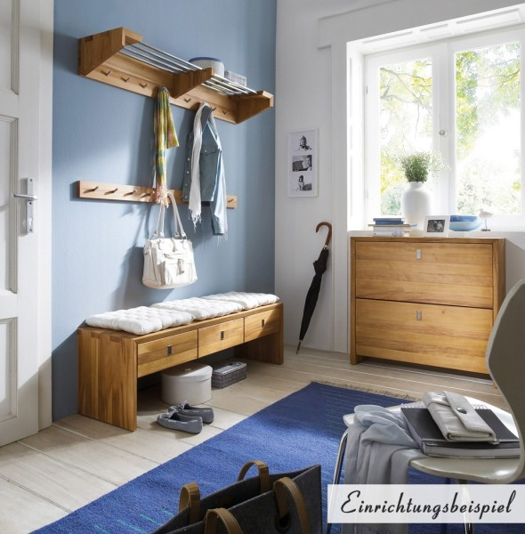 garderobe wandgarderobe hakenleiste kernbuche wildeiche massiv ge lt flur diele flur garderobe. Black Bedroom Furniture Sets. Home Design Ideas