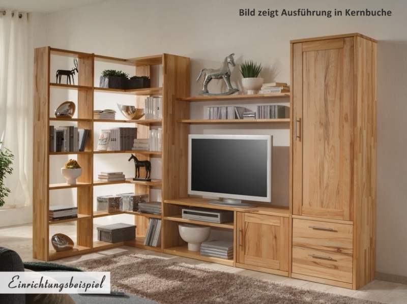 regal eckregal wohnwand wildeiche kernbuche massiv ge lt. Black Bedroom Furniture Sets. Home Design Ideas