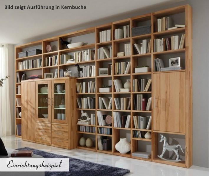 regal b cherregal wohnwand wildeiche kernbuche massiv ge lt individuell planbar b ro. Black Bedroom Furniture Sets. Home Design Ideas