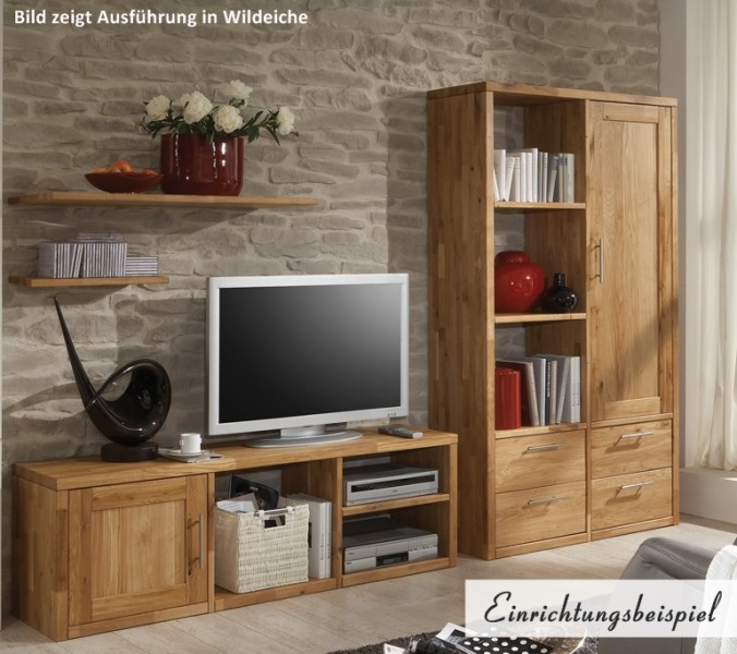 tv board schrank wohnwand wildeiche kernbuche massiv ge lt. Black Bedroom Furniture Sets. Home Design Ideas
