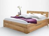 Bett Doppelbett Jugendbett Holzbett Gästebett Schubkasten Kernbuche massiv geölt