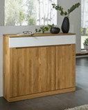 Anrichte Sideboard Wildeiche massiv geölt Dielenmöbel made in Germany Lack weiß