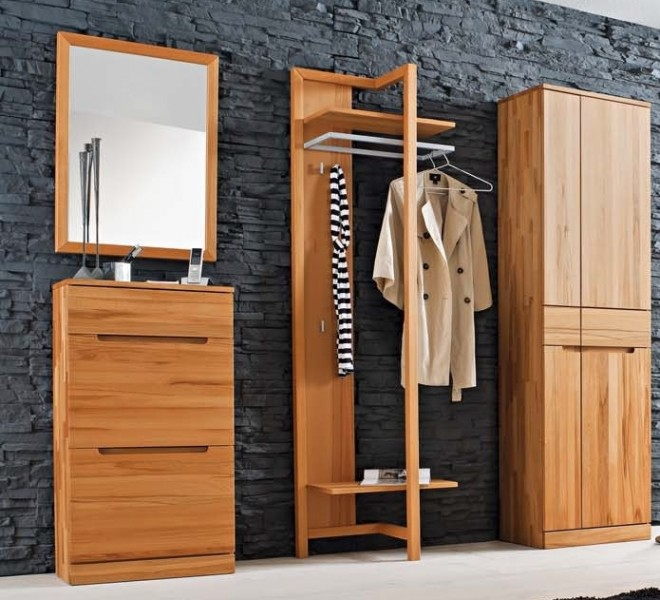 garderobenset dieleneinrichtung garderobe kernbuche massiv ge lt made in germany flur garderobe. Black Bedroom Furniture Sets. Home Design Ideas