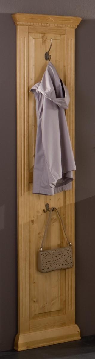 Wandgarderobe garderobe paneel fichte massiv landhaus for Garderobenpaneel landhausstil