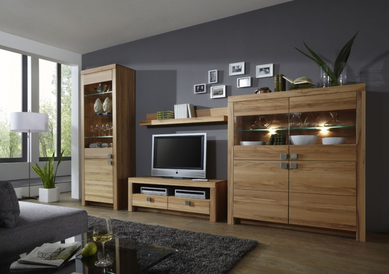 wohnwand wohnzimmer set wohnzimmerwand kernbuche oder wildeiche massiv ge lt wohnzimmer. Black Bedroom Furniture Sets. Home Design Ideas