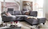 Polstercouch Sofa Couch Ecksofa Polsterecke Funktion grau groß modern