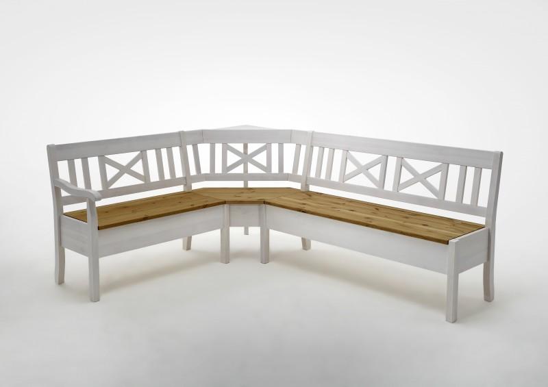 eckbank bank sitzbank kiefer massiv wei bernstein. Black Bedroom Furniture Sets. Home Design Ideas