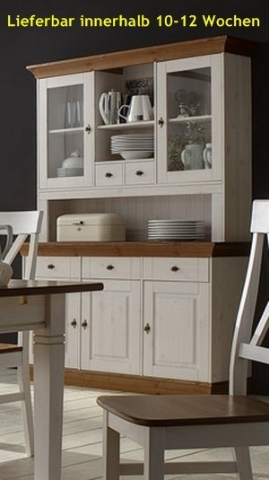buffet buffetschrank vitrine anrichte 3 t rig landhausstil kiefer massiv esszimmer schr nke buffets. Black Bedroom Furniture Sets. Home Design Ideas