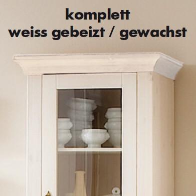 ... Anbauwand 5 Teilige Wohnwand Wohnzimmer Landhaus Kiefer Massiv ...